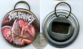Intrauterine Cannibalism 2.25 Bottle Cap Opener Keychain