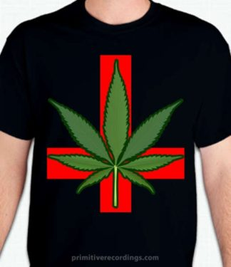 Marijuana Upside Down Cross Design