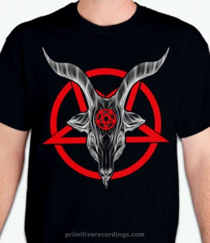 Red Pentagram Goat Shirt