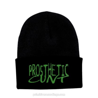 Prosthetic Cunt Logo Embroidered Hat or Beanie - Knit Beanie with Cuff