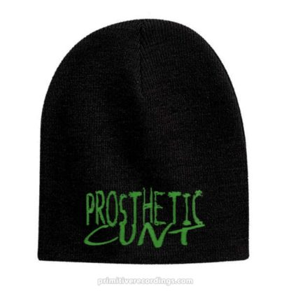 Prosthetic Cunt Logo Embroidered Hat or Beanie - Knit Skull Cap