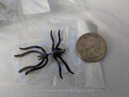 Creepy Black Spider Earring