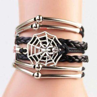 Handmade Skull Spider Bracelet