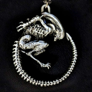Alien Fetal Position Necklace