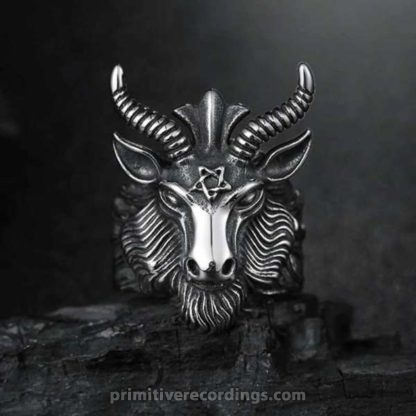 Goat Horn Head Ring