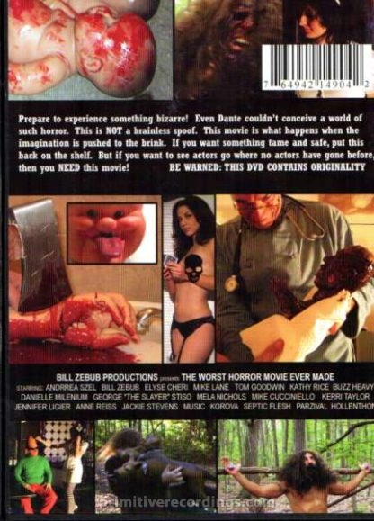 The Worst Horror Movie Ever Made Uncut DVD