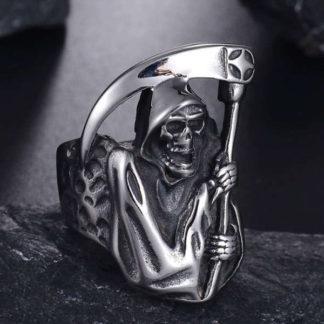 Stainless Steel Grim Reaper Ring