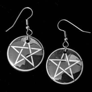 Pentacle 1 Inch Earrings