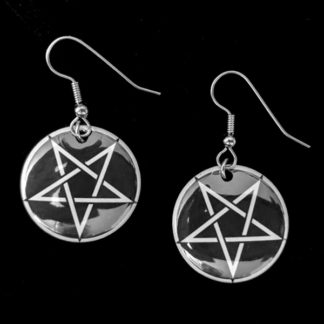 Pentagram 1 Inch Earrings