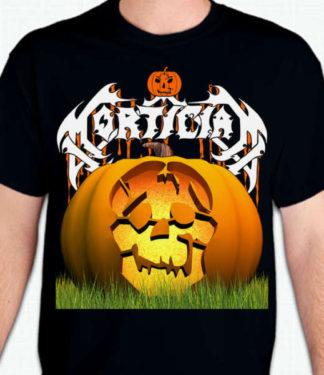 Mortician Halloween Pumpkin Skull Design