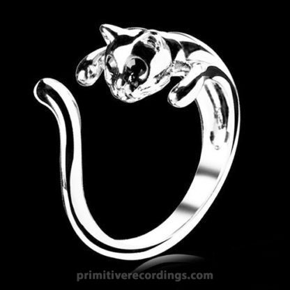 Cat Ring With Crystal Eyes