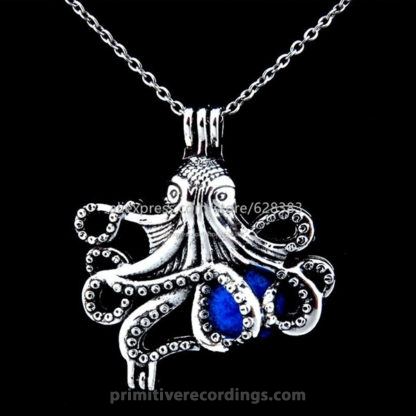 Octopus Essential Oil Bead Cage Necklace