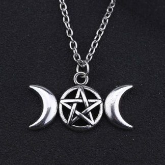 Triple Goddess Pentagram Necklace