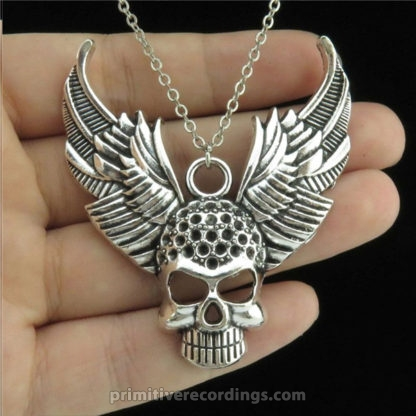 Skull with Wings Necklace