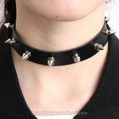 Black Spiked Collar